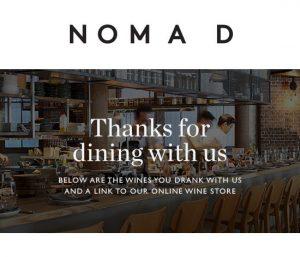 NOMAD - Hospo example